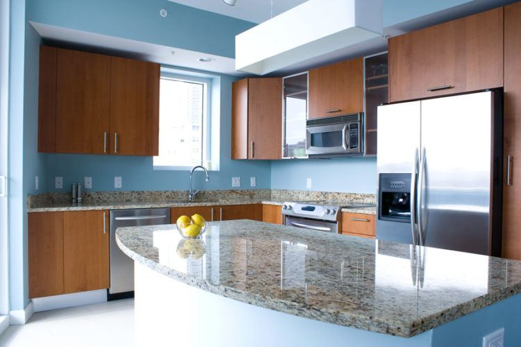 T Layout Shaped Kitchen