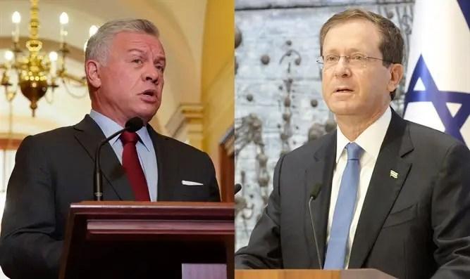 El presidente Yitzhak Herzog se reúne en secreto con el rey Abdullah-Channel 7 de Jordania