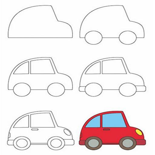 رسم سيارة بطريقة سهلة