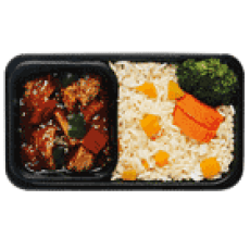 Vegetarian Chicken with Pumpkin Rice Seoul Food: AirAsia Menu & In-Flight Food Review Toronto Seoulcialite Airplane Food