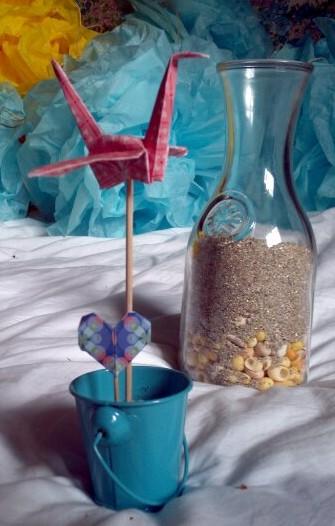 Origami grue mariage déco