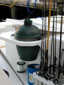Luxury Fishing Boat Big Green Egg