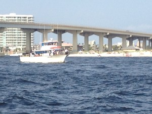 Burial at sea cruise heading out from Perdido Pass in Orange Beach AL