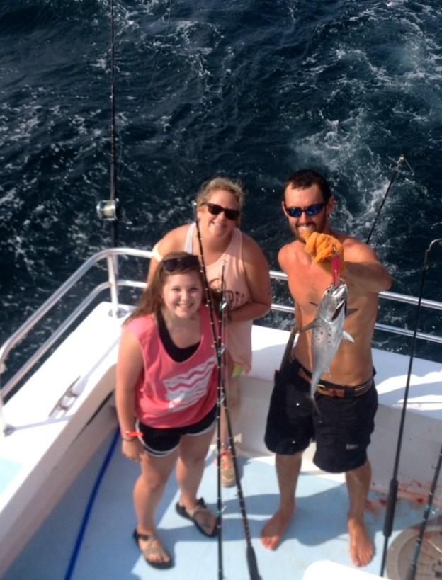 Bonita and lady Arizona anglers gulf shores al deep sea fishing