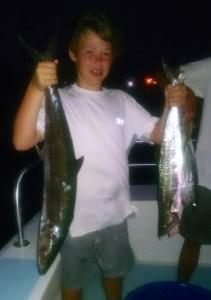 LA teen angler with his AL Gulf Coast mackerel catch