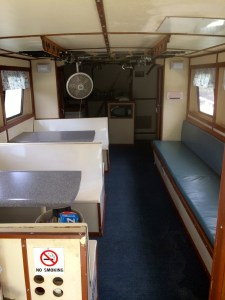 orange beach al party boat F/V Miss E boat interior