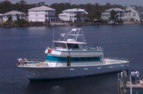 Orange Beach AL Deep Sea Fishing Headboat Miss E docked at Florabama