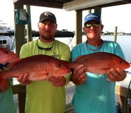 red snapper fishing charters AL/FL gulf coast from Flora-bama Marina May 31 1015