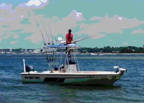 Salt Style AL inshore fishing charter boat back bay & gulf of mexico fishing trips
