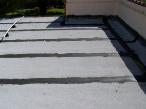 Roof image with leak defect