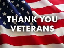 Thank you veterans flag