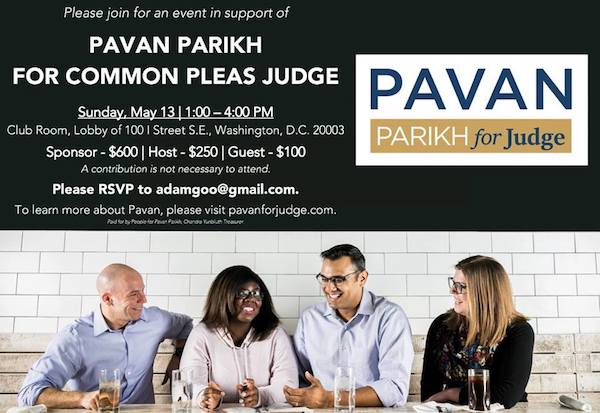 D.C. Reception for Pavan Parikh for Judge