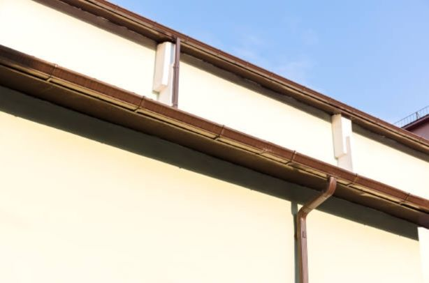 Commercial Gutters on Building