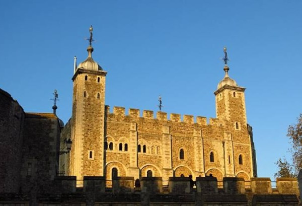 The White Tower of London showing Gutters and Slope Roof