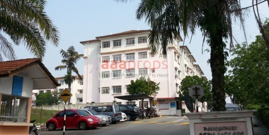 APARTMENT SERI MELATI, BANDAR SERI PUTRA, BANGI (GROUND FLOOR, END LOT)