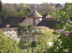 Rambouillet colombier vue du parc