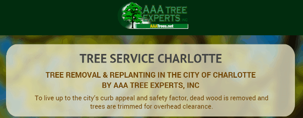 Tree Removal & Replanting in The City of Charlotte by AAA Tree Experts, Inc