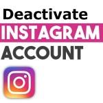 deactivate instagram