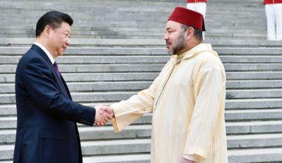 الملك محمد السادس والرئيس الصيني