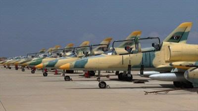 ليبيا..طيران الوفاق يستهدف قوات حفتر بوادي الربيع