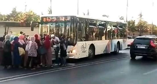 تخريب حافلات ألزا