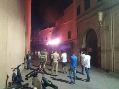 مراكش..حريق مهول بسوق الجلد يسبب خسائر فادحة