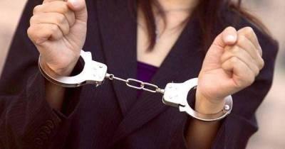 اعتقال سيدة