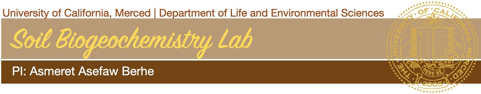 Soil Biogeochemistry Lab @ UC Merced