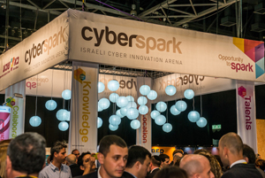 The CyberSpark booth at the Cyber Tech conference in Tel Aviv