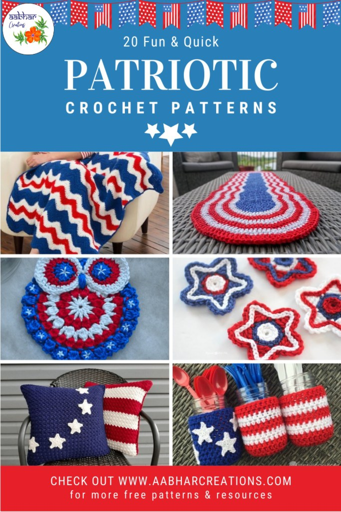 crochet patterns for independence day pin aabhar creations
