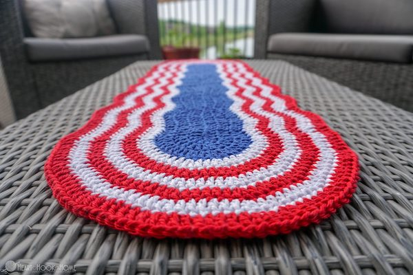 patriotic table runner crochet pattern
