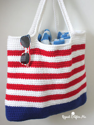 patriotic tote crochet pattern