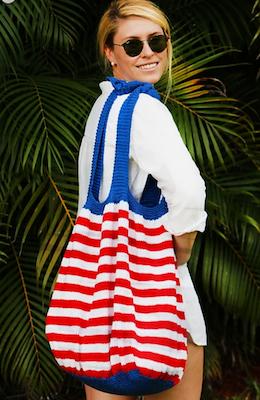 stars and stripes beach bag