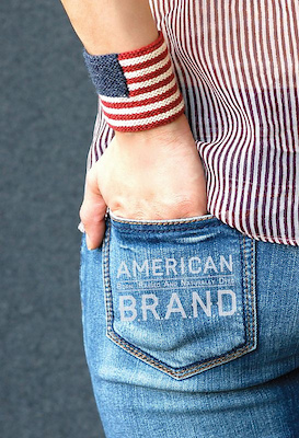 patriotic wrist cuff