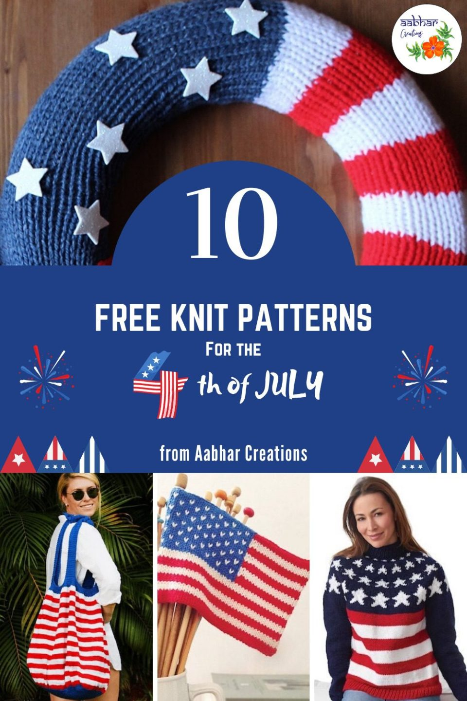 knit patterns for independence day pin aabhar creations