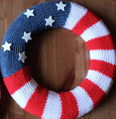 knit patterns for independence day
