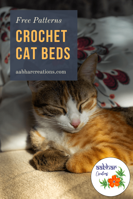 crochet cat bed pin aabharcreations