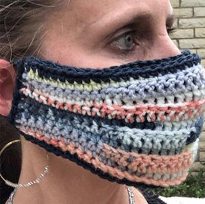 Reversible Crochet Face Mask