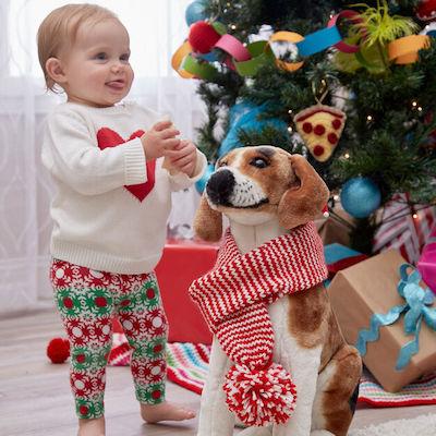 Holiday Stripes Dog Scarf