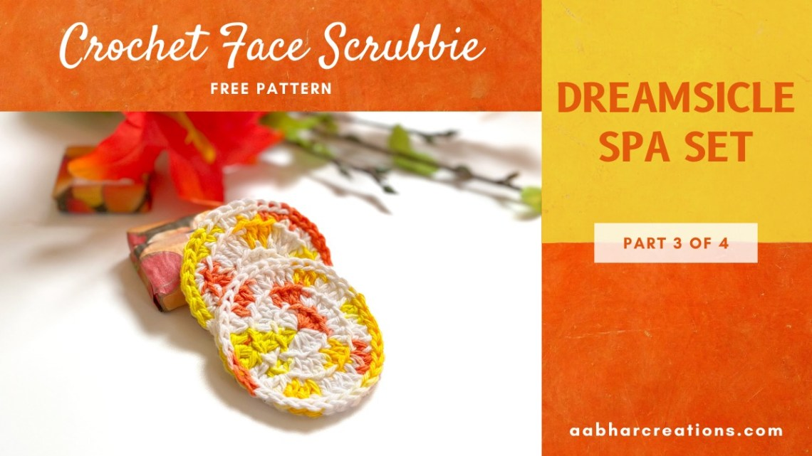 crochet face scrubbie aabharcreations