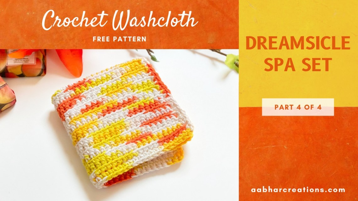 crochet washcloth aabharcreations