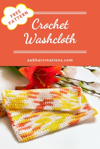 crochet washcloth Pin aabharcreations