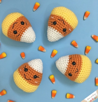 Amigurumi Candy Corn free halloween crochet patterns
