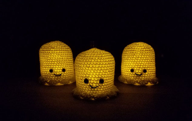 Glowing Crochet Ghosts