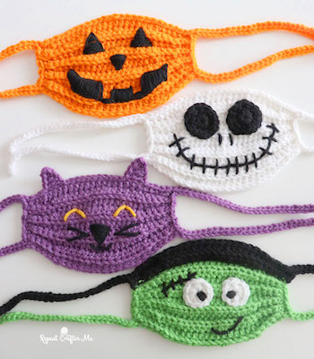 Halloween Crochet Face Masks free halloween crochet patterns
