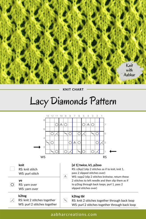 Lacy Diamond Stitch Chart