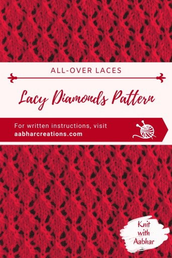 Lacy Diamonds Pattern Pin