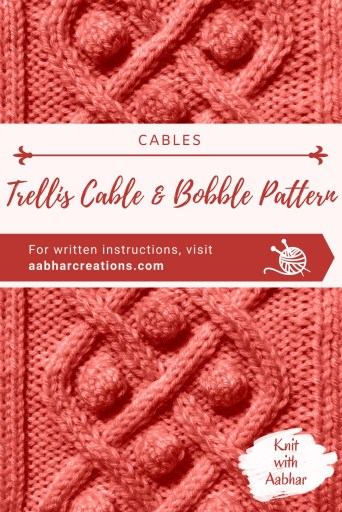 Trellis Cable & Bobble Stitch Pin aabharcreations