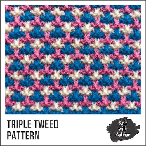 Triple Tweed Stitch Pattern