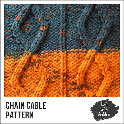 Chain Cable Stitch Pattern